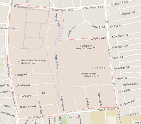 Map of Wyndhurst Neighborhood
